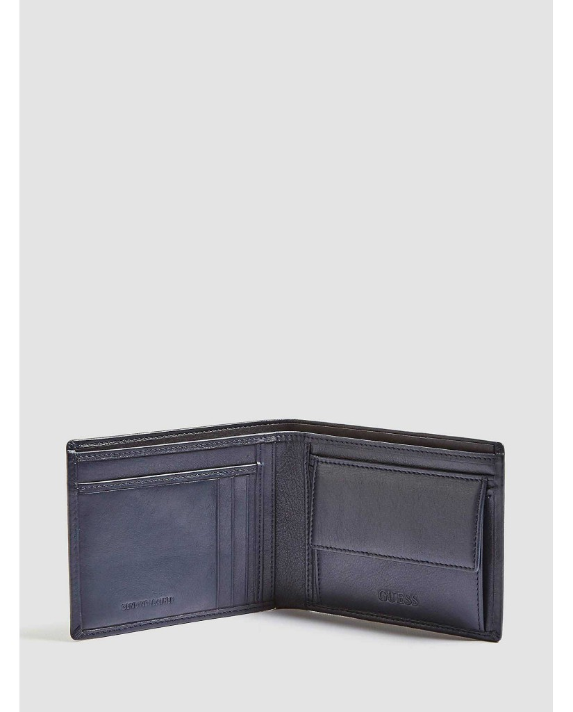 Guess Portafogli   New boston g.box slg and kring Uomo Nero Fashion