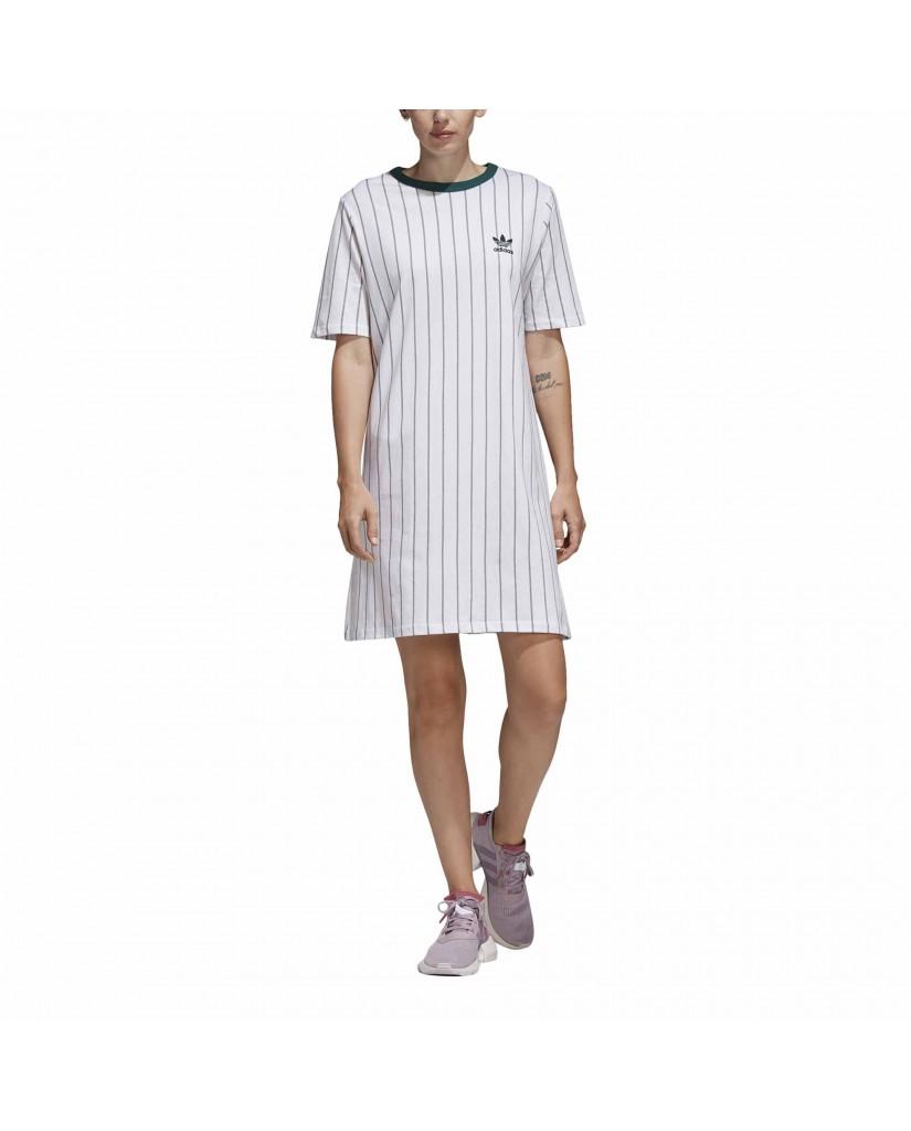 Adidas Maglie   Tee dress           white Donna Bianco Sportivo