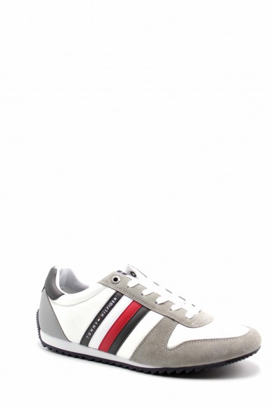 Tommy hilfiger Sneakers F.gomma Essential nylon runner Uomo Bianco Fashion