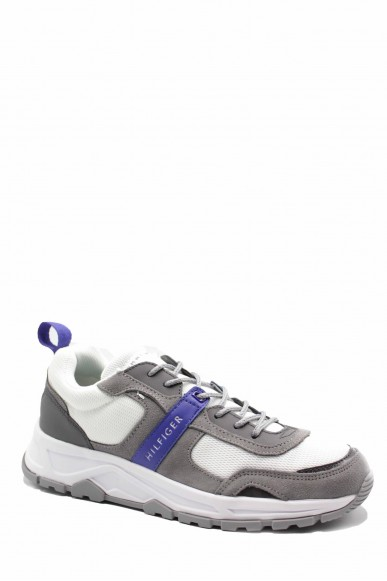 Tommy hilfiger Sneakers F.gomma Fashion mix sneaker Uomo Grigio Fashion