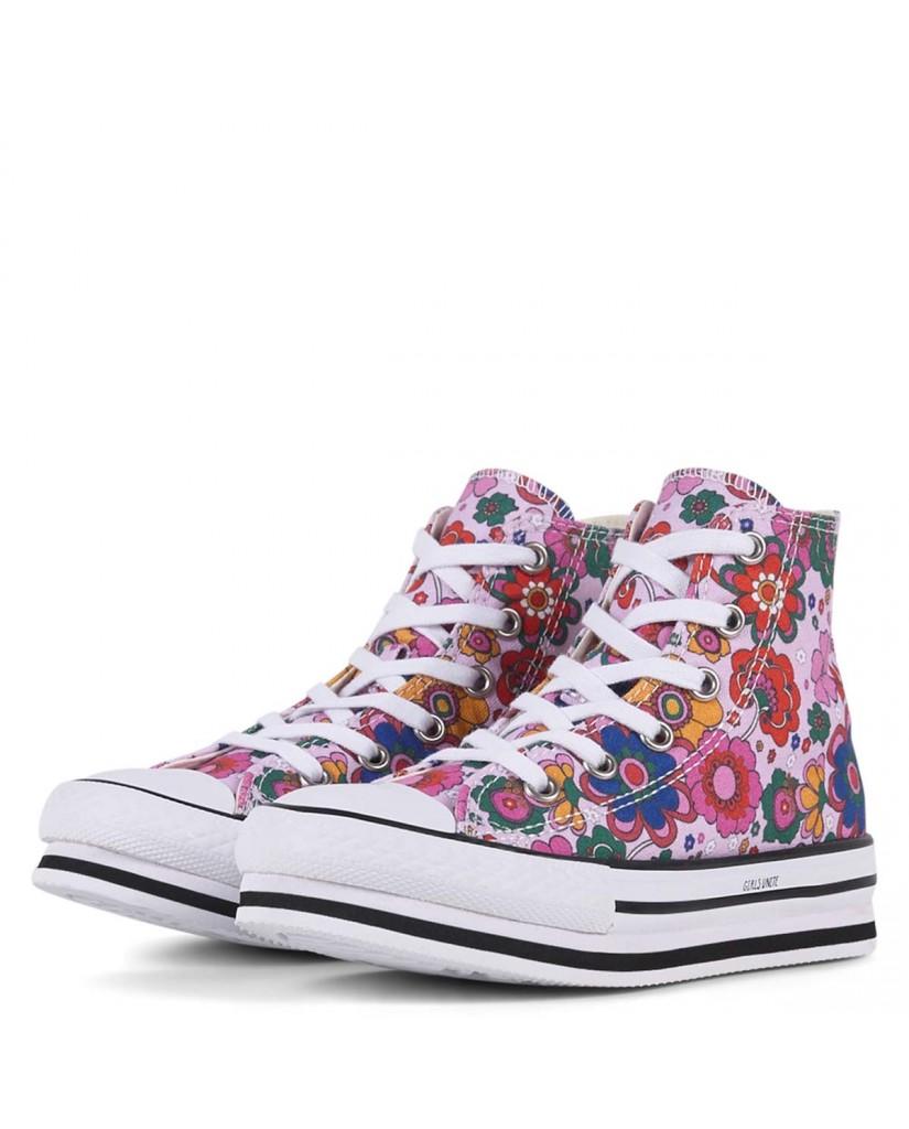 Converse Sneakers F.gomma Chuck taylor all star platform eva Bambino Rosso Fashion