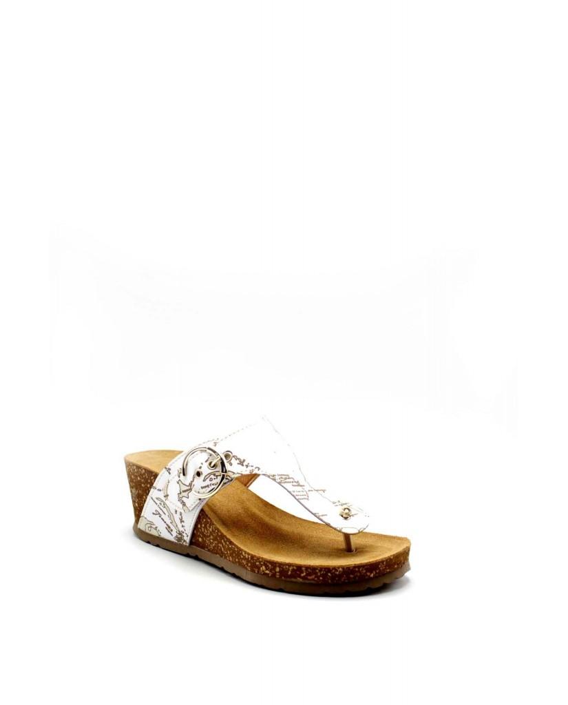 1^classe  Sandali   Ciabatta infradito h65 Donna Bianco Fashion