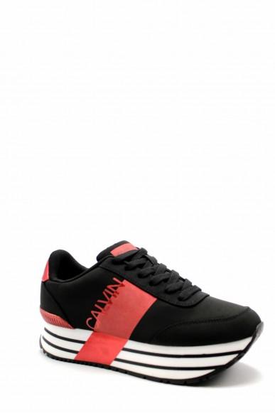 Calvin klein Sneakers F.gomma Coretta nylon Donna Nero Fashion