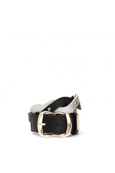 Cafe' noir Cinture   Cintura treccia Donna Nero Fashion