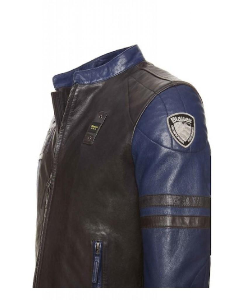 Blauer Giacchetti   Pelle capo spalla foderato Uomo Blu Fashion