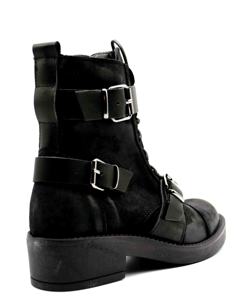 Euroshoes Stivaletti F.gomma Donna Nero Fashion