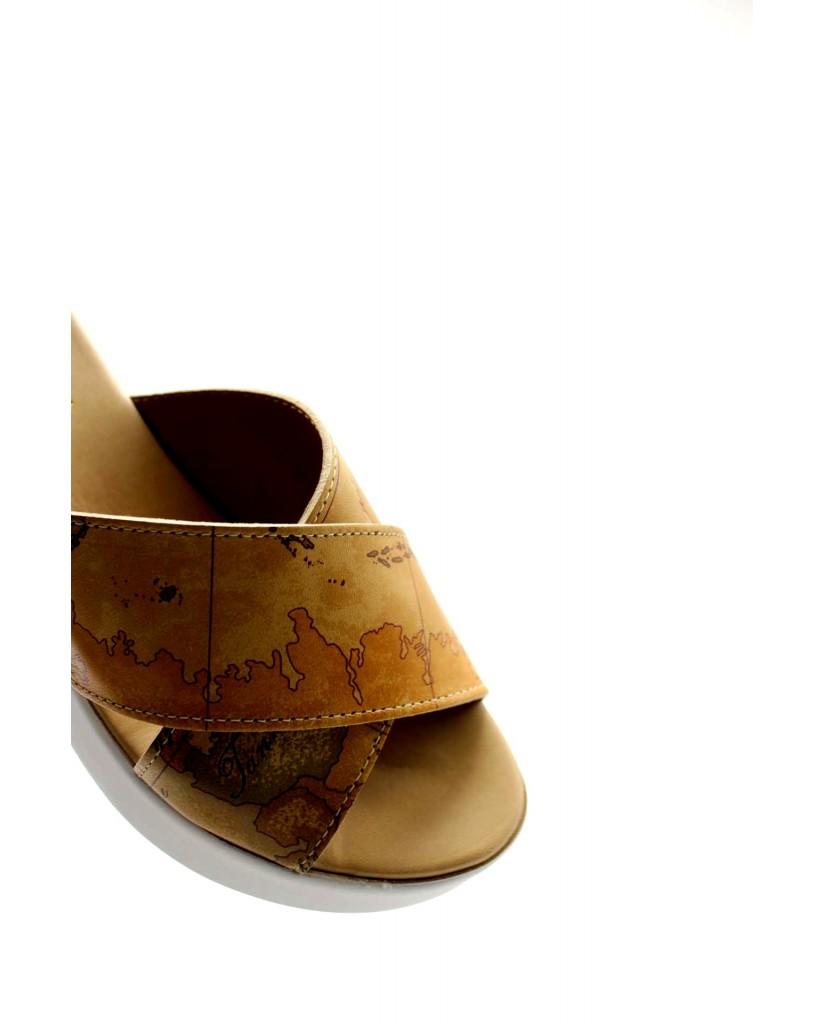 1^classe  Sandali   Ciabatta zeppa h75 Donna Naturale Fashion