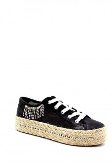 Cafe' noir Sneakers F.gomma Sneakers in rete lurex con accessor Donna Nero Fashion