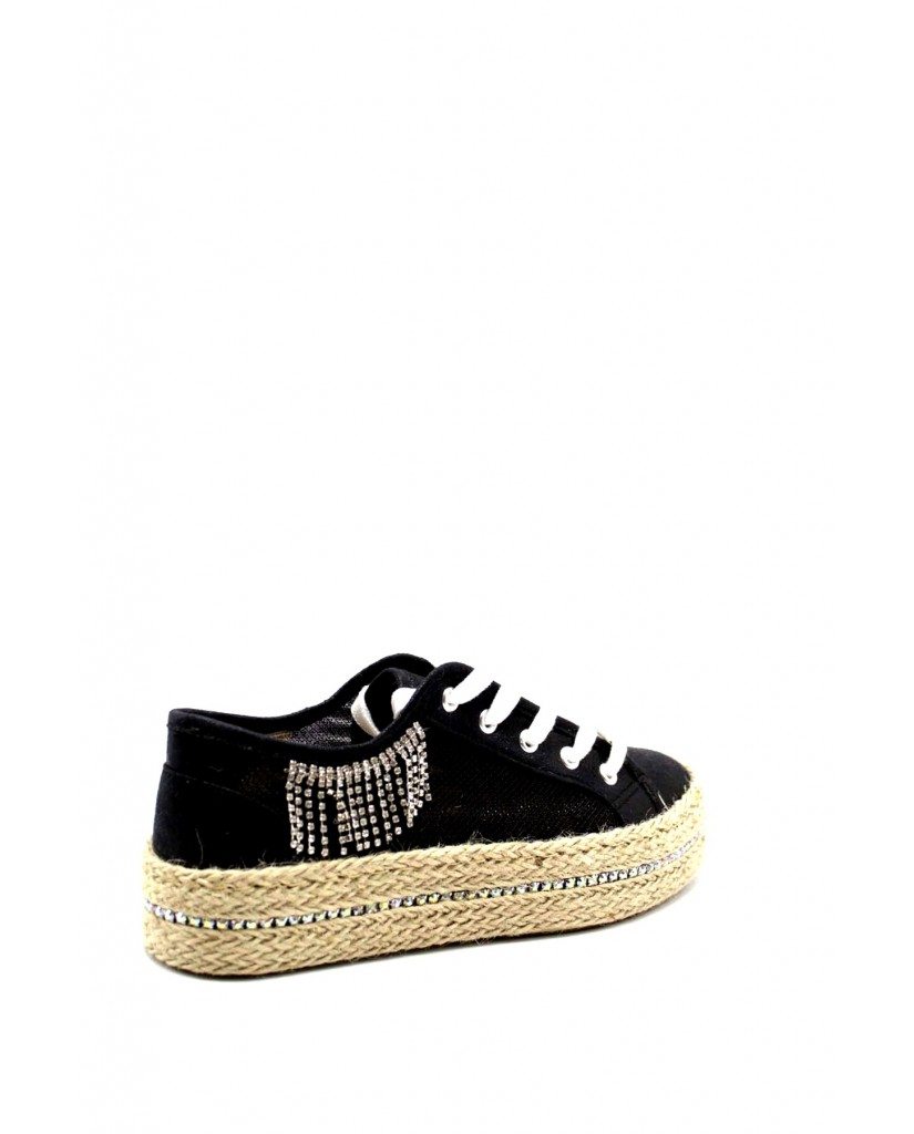 Cafe' noir Sneakers F.gomma Sneakers in rete lurex con accessor Donna Nero Fashion