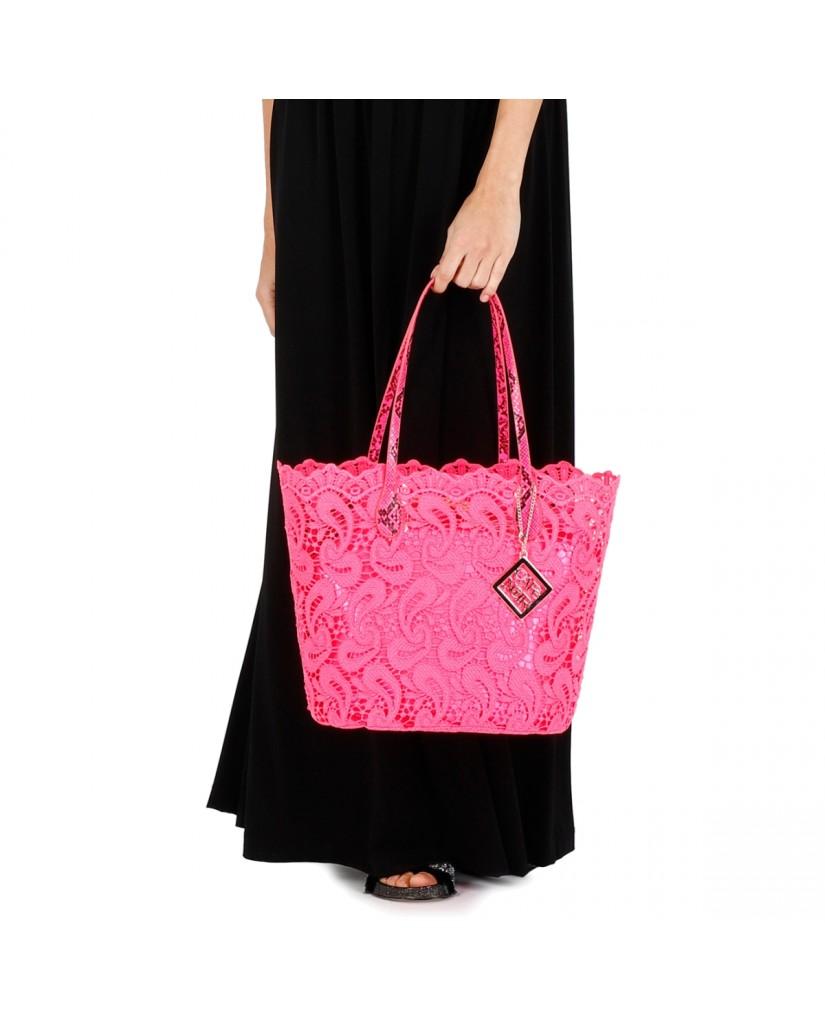 Cafe' noir Borse   Shopping pizzo grande Donna Rosa Fashion