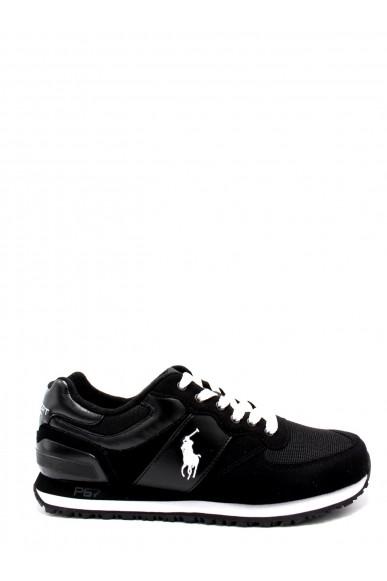 Ralph lauren Sneakers F.gomma 40/45 slaton pony Uomo Nero-bianco Fashion