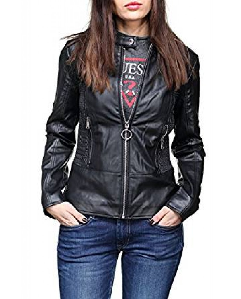 brand new 4fb2f 5d75d Guess Giacchetti Esther jacket Donna Nero Fashion