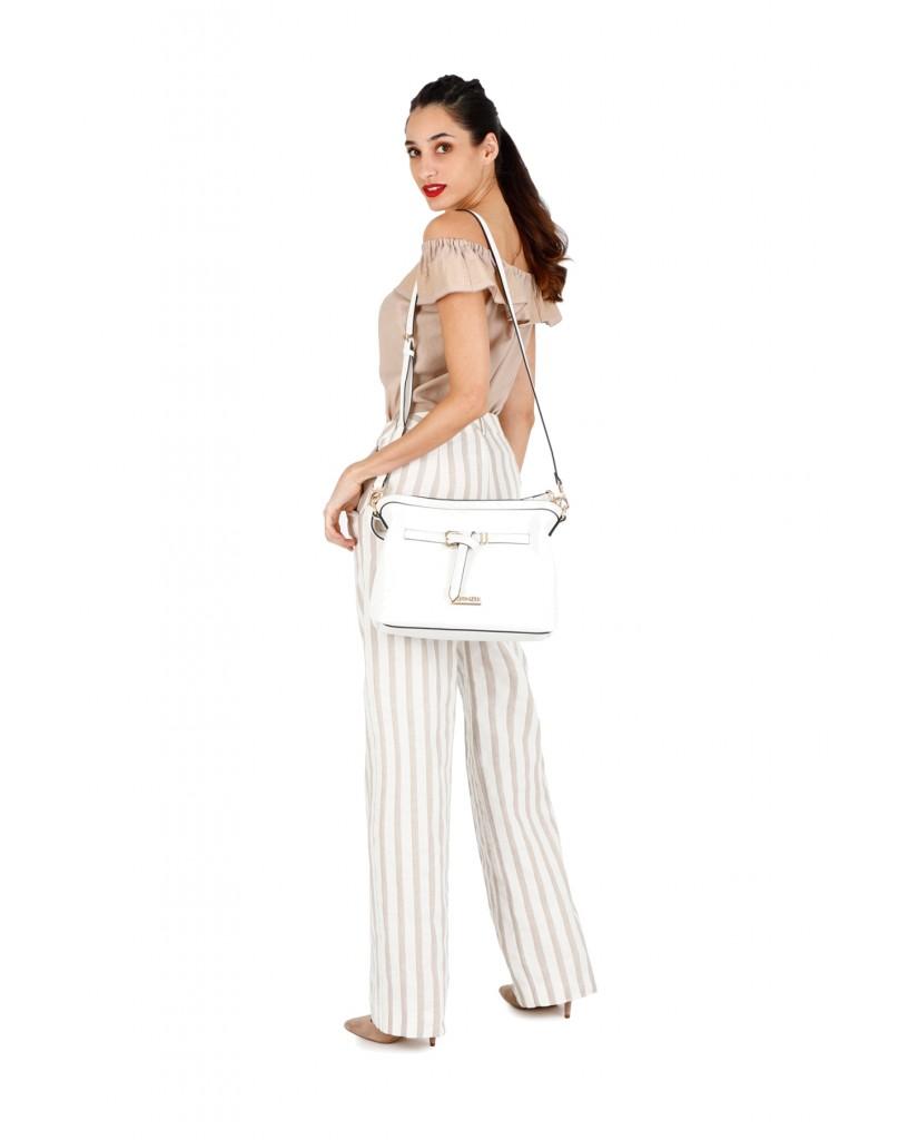 Cafe' noir Borse   Sacca cinturino con nodo Donna Bianco Fashion