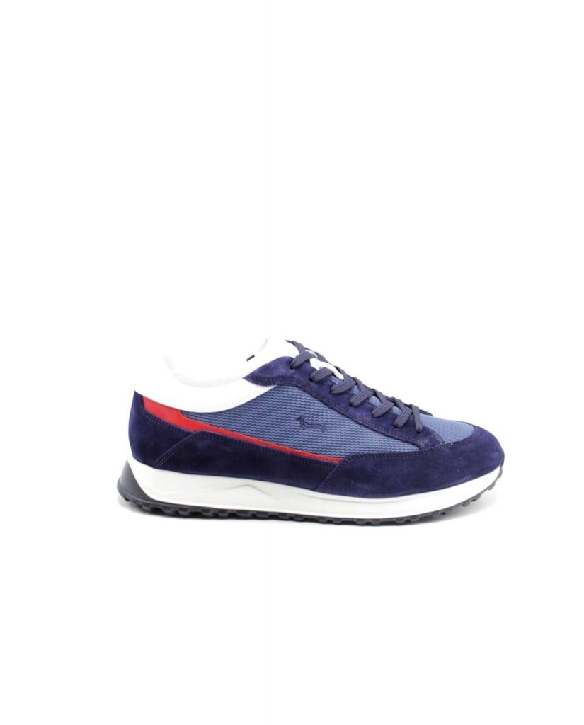 Harmont-blaine Sneakers F.gomma Scarpa uomo camoscio - tex fabric s Uomo Celeste Fashion