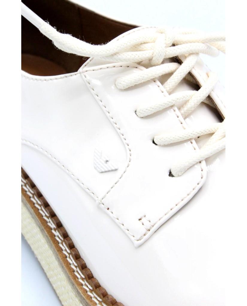 Emporio armani Stringate 36-40 derby x3c139 ss18 Donna Bianco Fashion