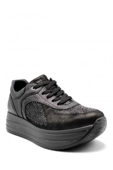 Igieco Sneakers F.gomma Capra perl.nuv. Donna Nero Casual