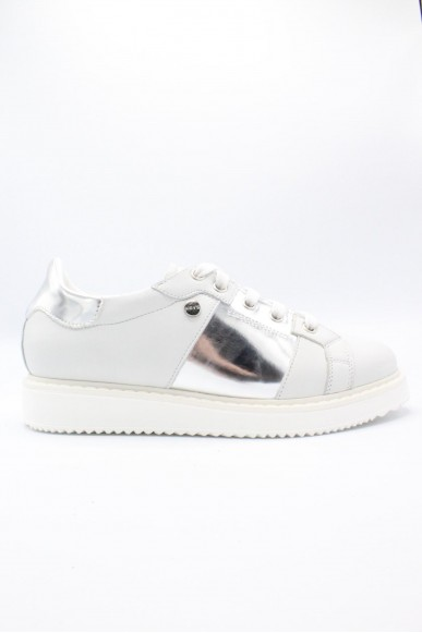 Key's Sneakers F.gomma 35/41 Donna Bianco-argento Fashion