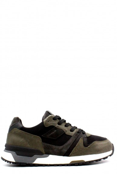 Crime Sneakers F.gomma 40-45 made in italy Uomo Nero-verde Fashion