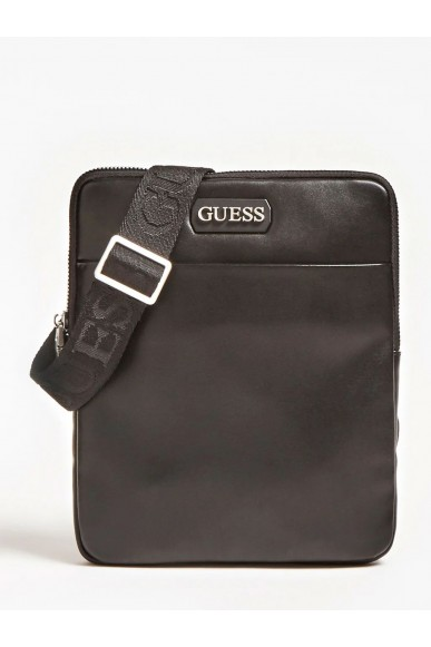 Guess Borse Dan pu mini flat crossbody Uomo Nero Fashion