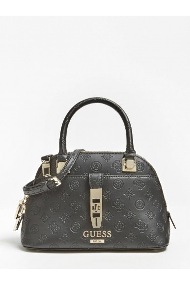 Guess Borse   Peony classic sml dome satchel Donna Nero Fashion