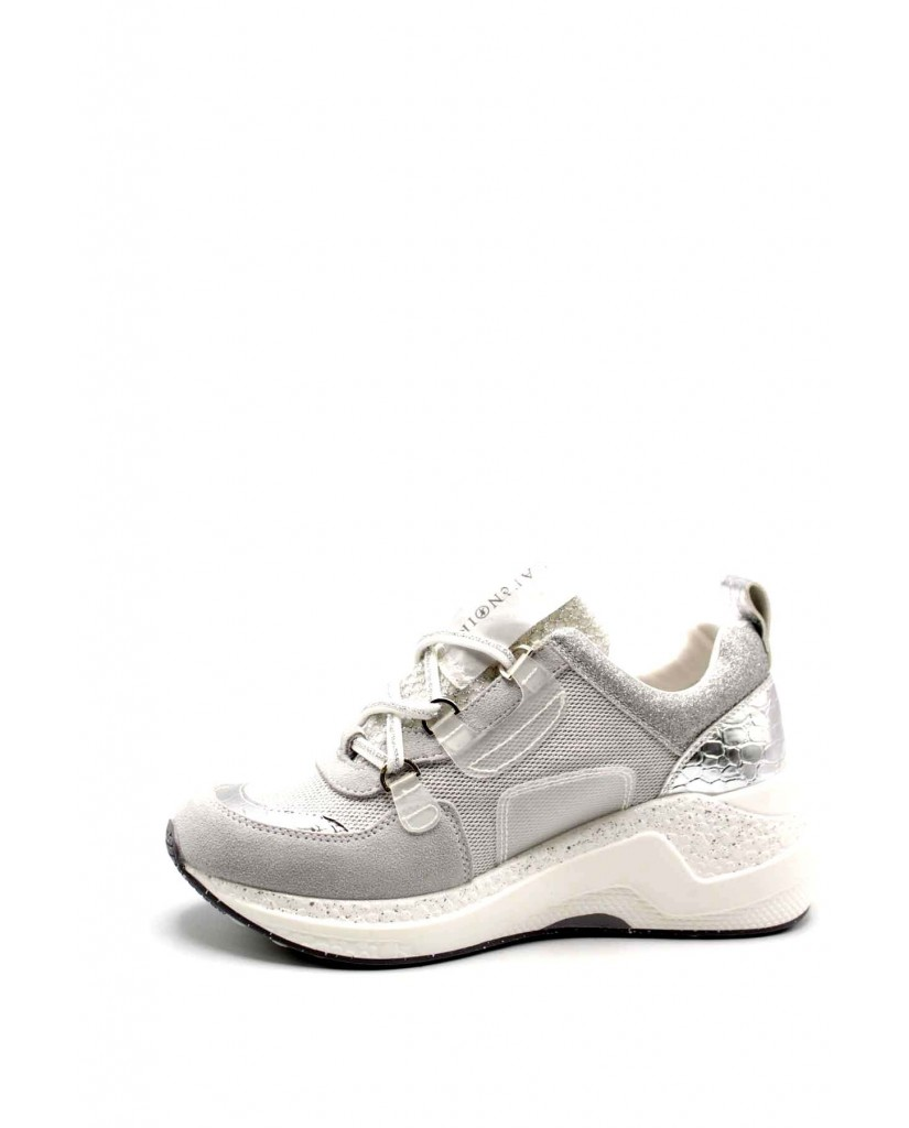 Cafe' noir Sneakers F.gomma Sneaker anelli Donna Bianco Fashion