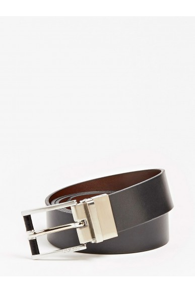 Guess Cinture   Reversible and adjustable belt Uomo Nero-marrone Fashion