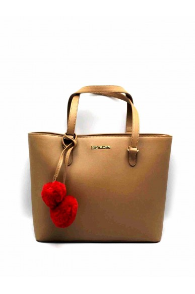 Moschino Borse   Borsa pin grain shopper Donna Camel Fashion