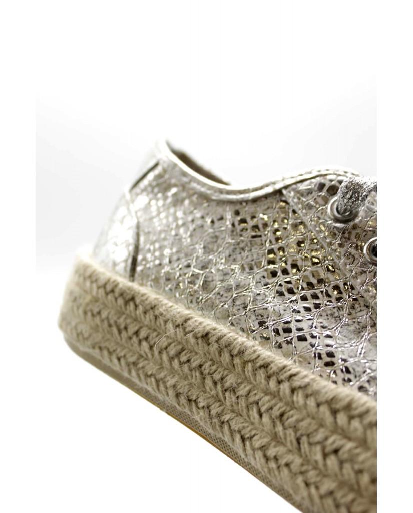 Cafe' noir Sneakers F.gomma Sneakers fascia corda con tomaia in Donna Bianco Fashion