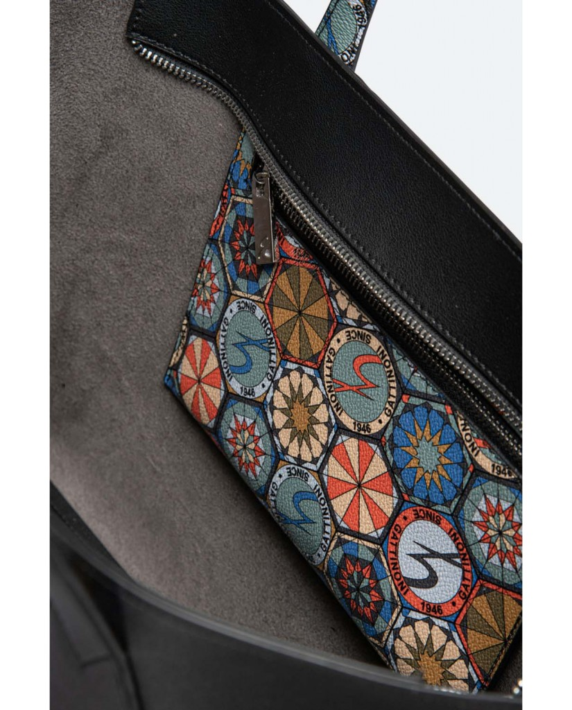 Gattinoni Borse   Denise large shopping bag pu/pvc ta Donna Nero Fashion
