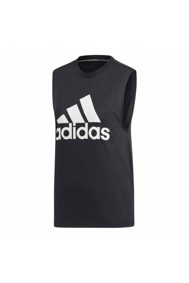 Adidas Canottiere   W mh bos tank       black/white Donna Nero Sportivo