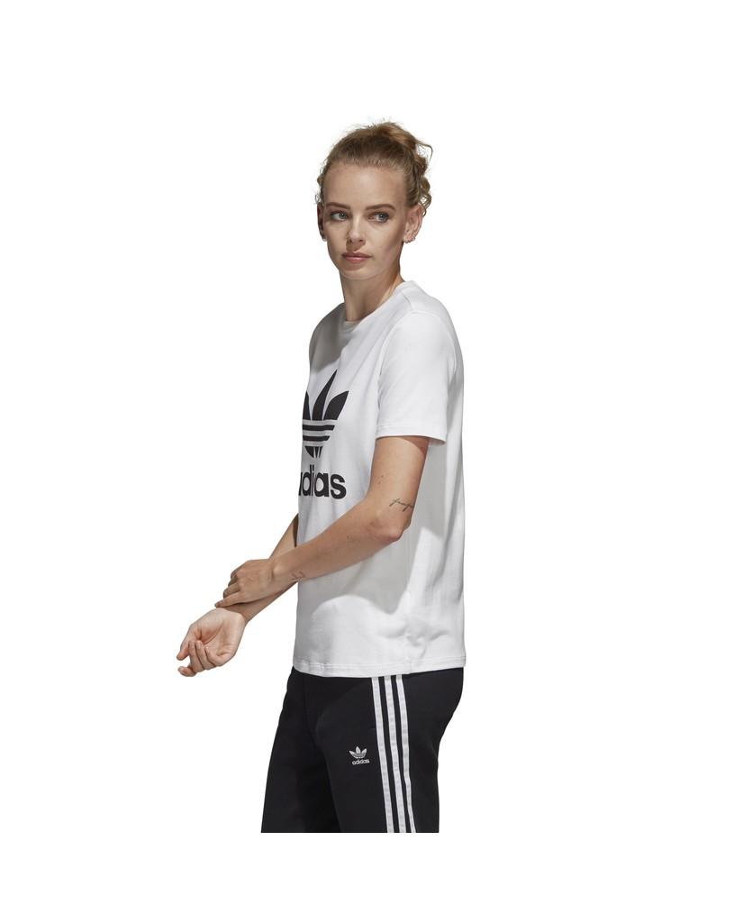 Adidas T-shirt   Trefoil tee Donna Bianco Streetwear
