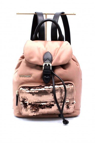 Twin set Backpacks - Zaino piccolo Donna Nude Fashion