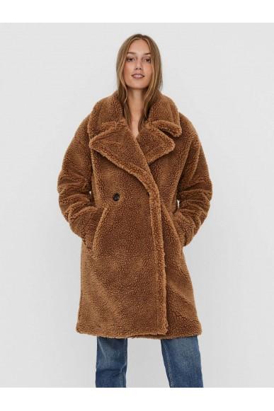 Vero moda Giubotti   Vmlynne 3/4 teddy jacket ki Donna Tabacco Fashion