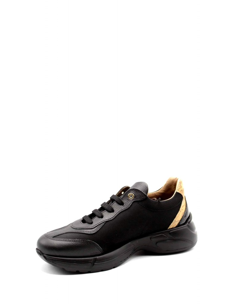 1^classe  Sneakers F.gomma Sneakers n0412 Donna Nero Fashion