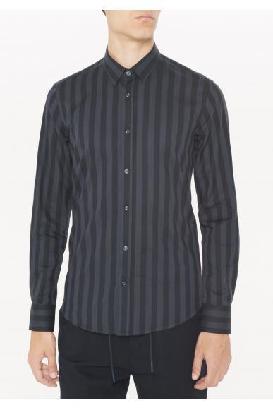 Antony morato Camicie   Camicia tessuto stampata Uomo Blu intenso