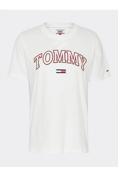 Tommy hilfiger T-shirt   Tjw neon collegiate Donna Bianco Fashion