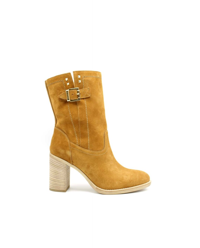 Elege' Stivaletti F.gomma E115030d Donna Camel Fashion