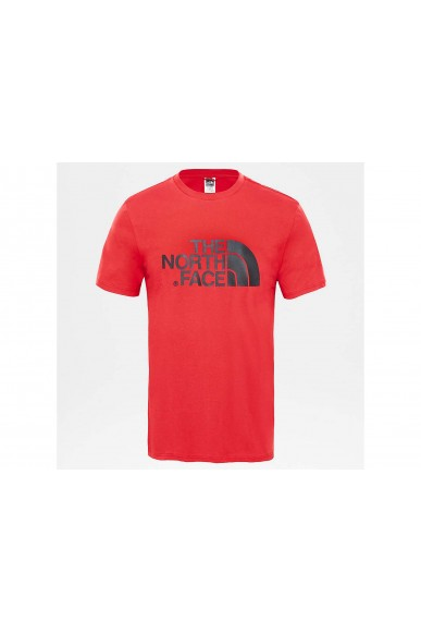 The north face T-shirt   Easy tee tnf white Uomo Rosso Streetwear