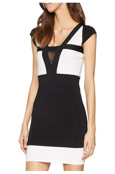 Guess Abiti   Altea swtr dress Donna Nero Fashion