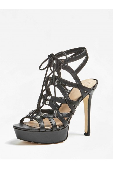 Guess Sandali   Lelani sandalo (sandal) leathe Donna Nero Fashion