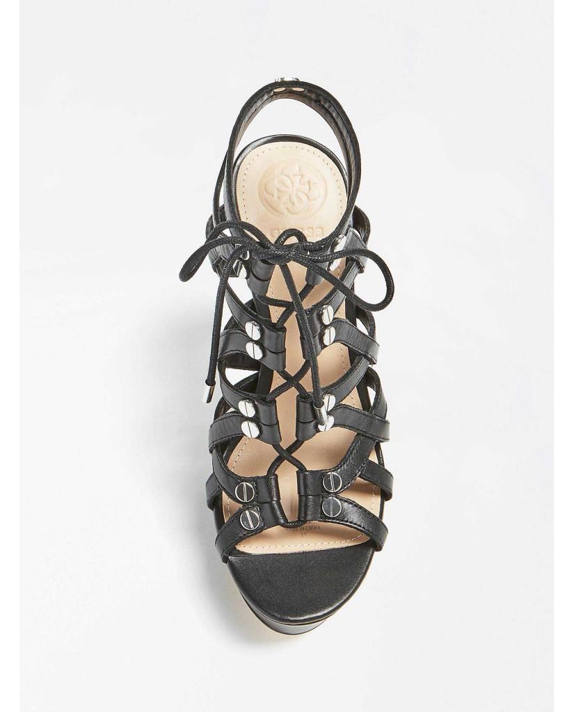 Guess Sandali   Lelani sandalo (sandal) leathe Donna Nero Fashion