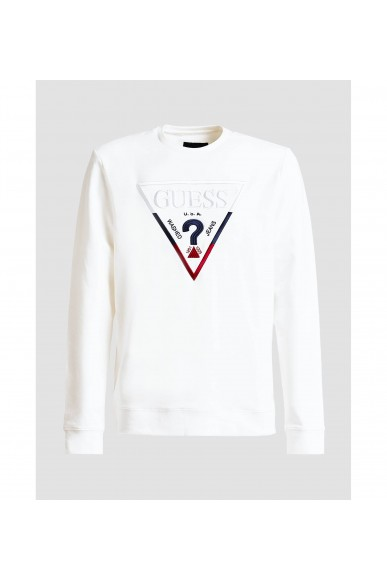 Guess Felpe   Derren cn fleece Uomo Bianco Fashion