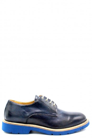 Exton Classiche F.gomma 39/46 made in italy derby 9057 Uomo Blu Fashion