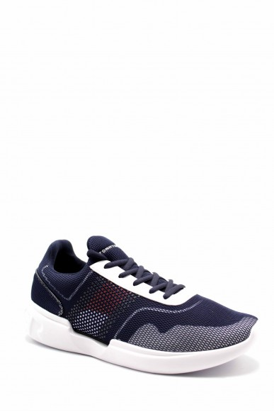 Tommy hilfiger Sneakers F.gomma Corporate underlay runner Uomo Blu Fashion