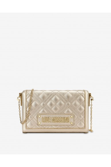 Moschino Tracolle   Evening bag trapuntata con logo Donna Oro Fashion