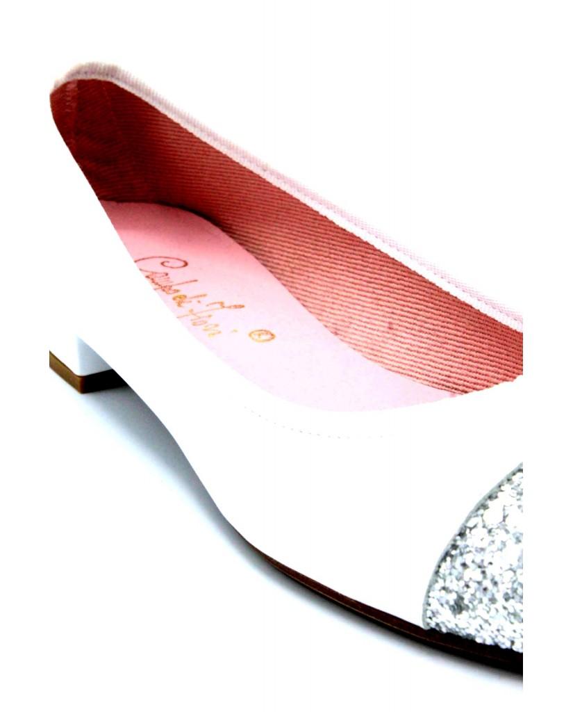 Campo de' fiori Ballerine F.gomma 35/41 made in italy Donna Bianco Fashion