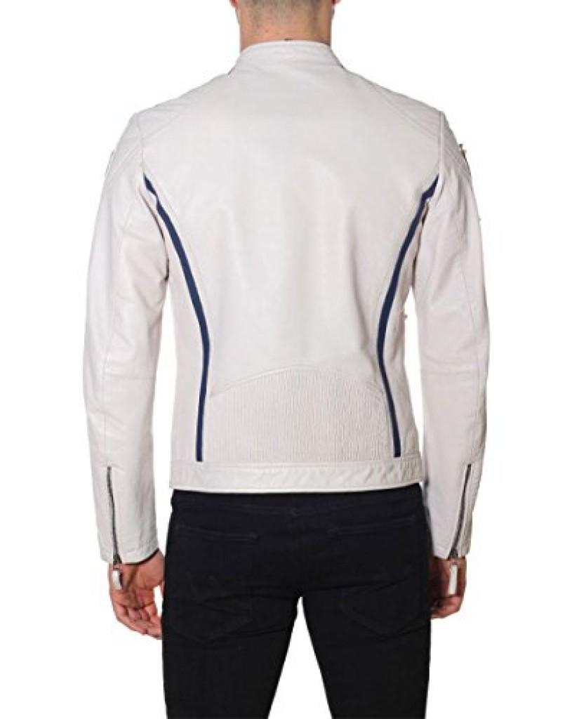 Blauer Giacchetti   Pelle capo spalla foderato Uomo Bianco Fashion