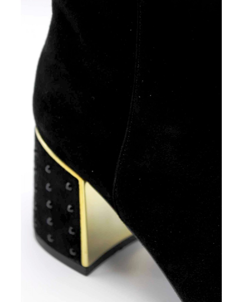 Cafe' noir Tronchetti F.gomma Tronchetto in camoscio con tacco st Donna Nero Fashion