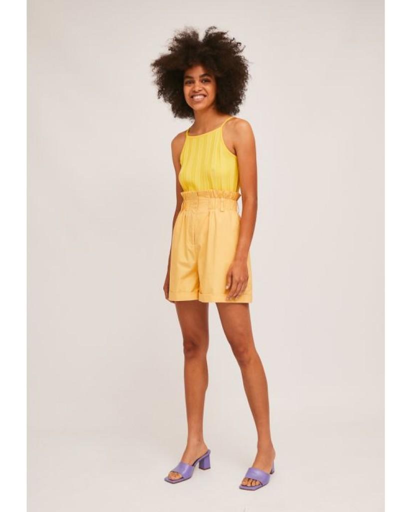 Compagnia fantastica Shorts   Ss21han89 Donna Giallo Fashion