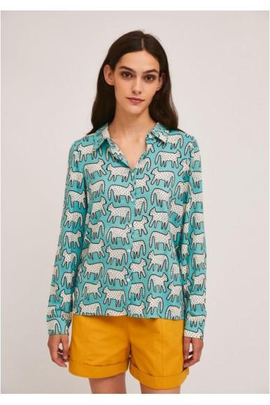 Compagnia fantastica Camicie   Sp21sam15 Donna Blu Fashion